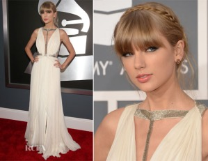 Taylor-Swift-In-j-Mendel-2013-Grammy-Awards